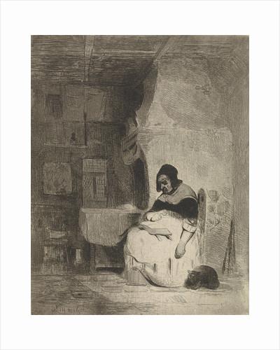 Woman Reading by Petrus Marius Molijn