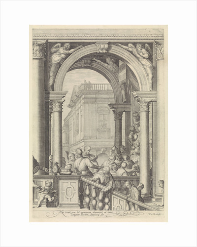 Christ at a meal in the house of Levi the Publican (plate 3) by Frederik de Wit