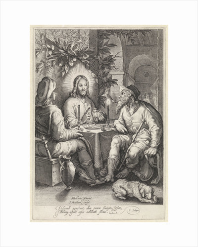 Meal at Emmaus by Cornelius Schonaeus
