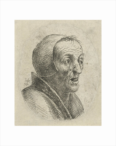 Bust of an old woman with open mouth by Nicolaes van Haeften