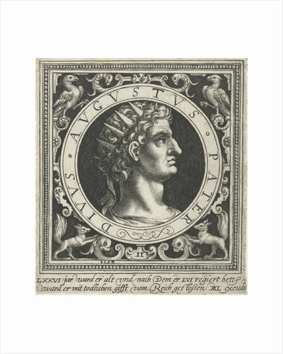 Portrait of Emperor Augustus on medallion by Assuerus van Londerseel