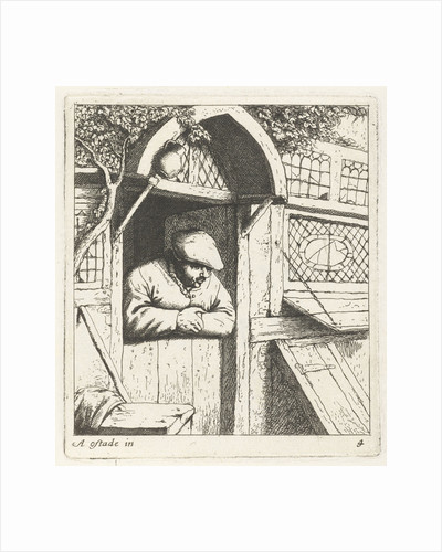 Farmer leaning on lower door by Abraham Bloteling