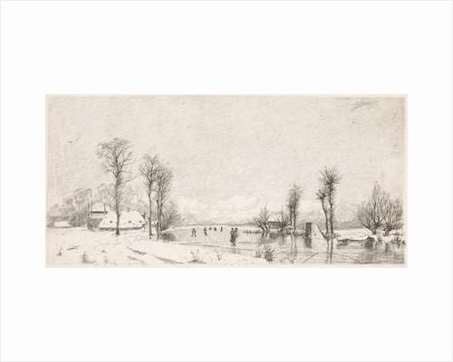 Winter view at Vrouwenakker by Elias Stark