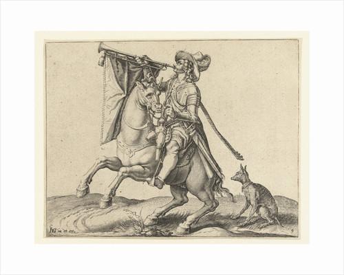 Trumpeter on horseback by Jacob de Gheyn II