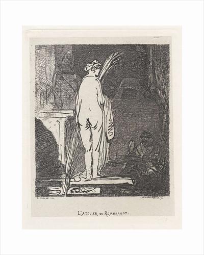 Artist draws a nude model by Jan Weissenbruch