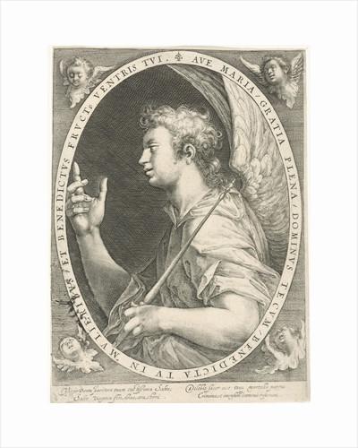 Annunciation (angel Gabriel) by Crispijn van de Passe I