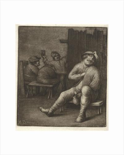 Sleeping man in a tavern by Jacob Hoolaart