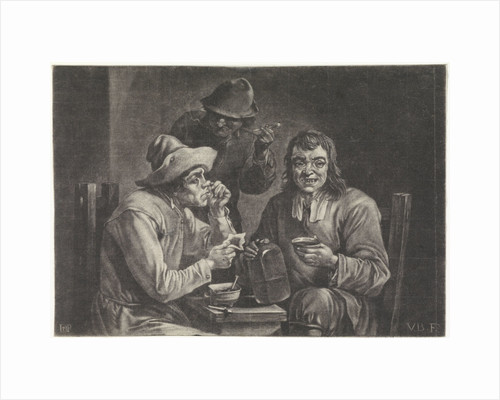 Drinking and smoking men by Jan van der Bruggen