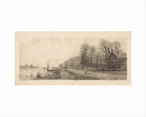 Houses on the Amstel by Elias Stark