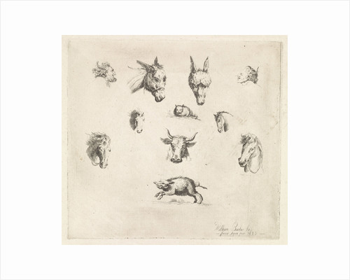 Animal heads and satyrs by William Bikker-Top