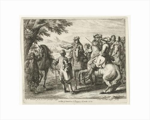 Captains on horseback by Adam Frans van der Meulen