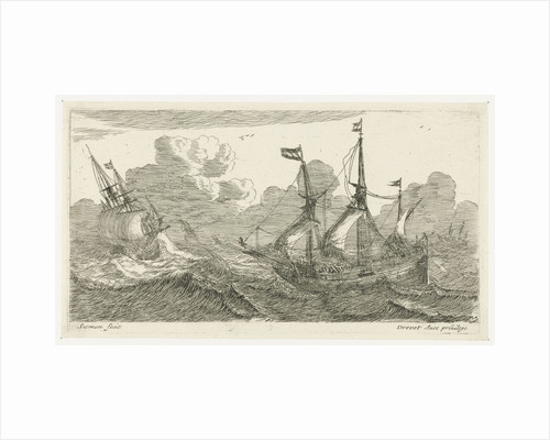 Sailing in rough seas by Pierre Drevet