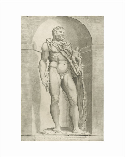 Statue of Emperor Commodus as Hercules by Antonio Lafreri