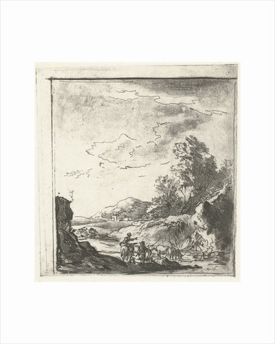 Landscape with rider and shepherd by Johannes Janson