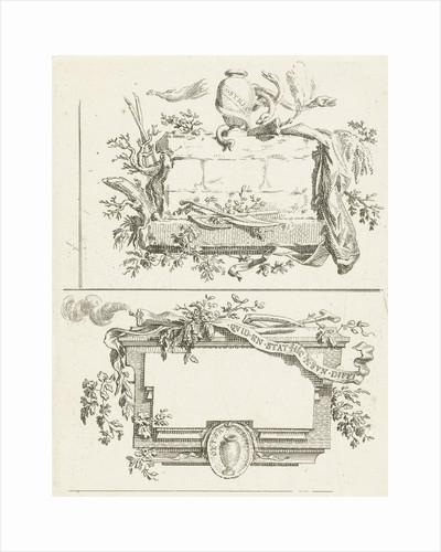 Journal with three vignettes including name Bilderdijk by Willem Bilderdijk