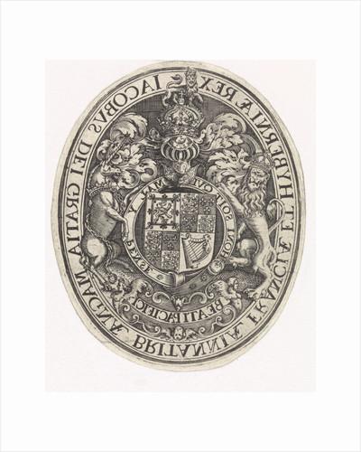 Arms of England by Simon van de Passe
