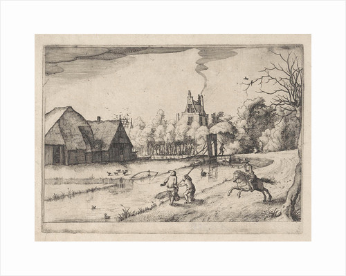 Country house and orchard of Jan Daimen, at Sloterdijk by The Netherlands