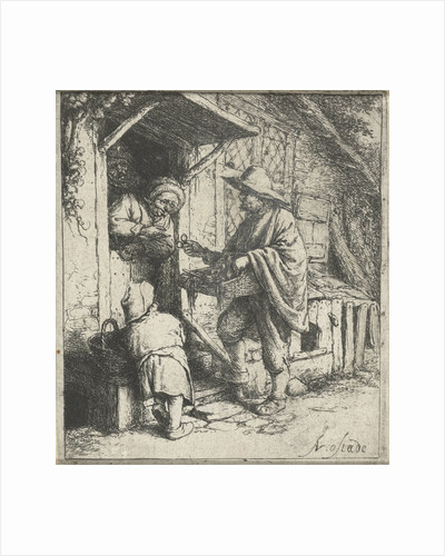 Seller of glasses and an old woman by Adriaen van Ostade