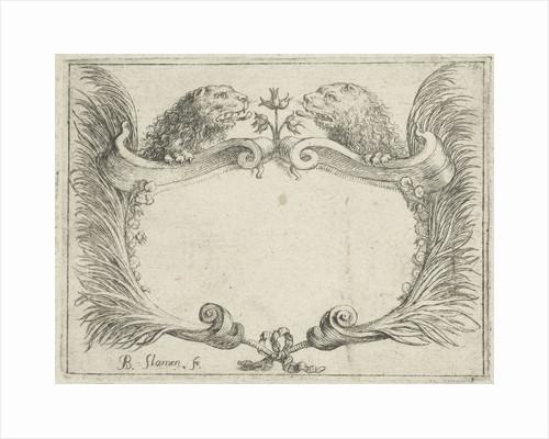 Cartouche with lion heads by Albert Flamen