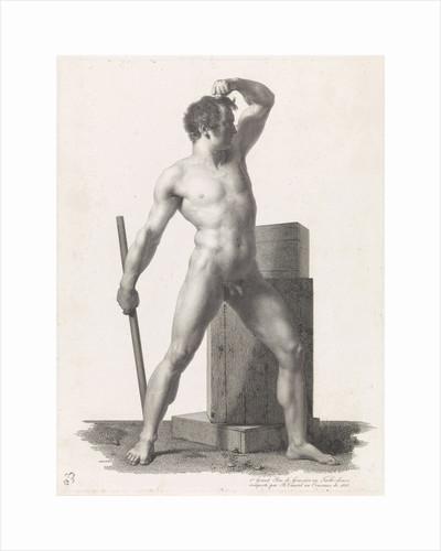 Standing male nude by Benoit Taurel