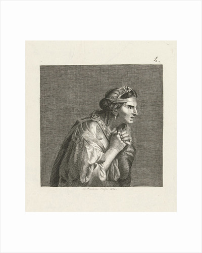 Woman in antique dress by Charles Le Brun