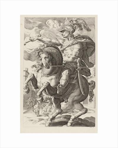 Marcus Curtius on horseback by Hendrick Goltzius