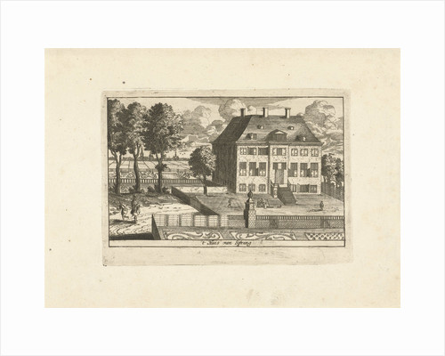 Country house with falconer by Cornelis Elandts