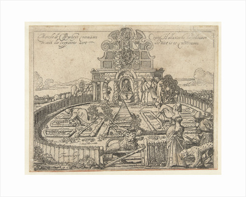 Allegory of the unreliability of Spain and the freedom and prosperity of the Seven Provincien, the Dutch Garden by Willem Pietersz. Buytewech
