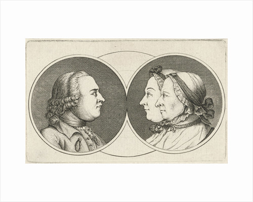 Portraits of Caspar Philips Jacobsz., His wife Margaretha Elisabeth Konsa Philips and their daughter Anna Elisabeth Philips by Anonymous