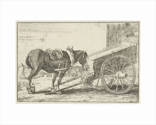 Horse with a cart by Jan van den Hecke I