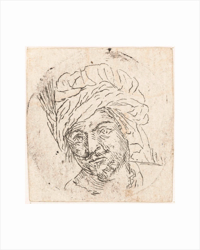 Mans Head with turban by Lodewijk XIV