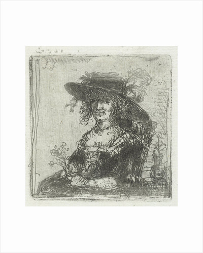 Woman with hat by Jan Chalon