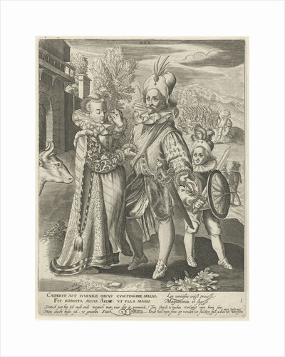 Third life of thirty years with soldier says goodbye to his wife and goes to war by Charles Le Brun