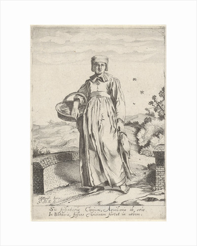 Girl from fishing village on the North Sea coast by Gillis van Scheyndel I