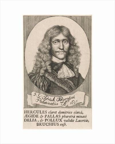 Portrait of Johann Georg Bruck, fencing master by Wallerant Vaillant