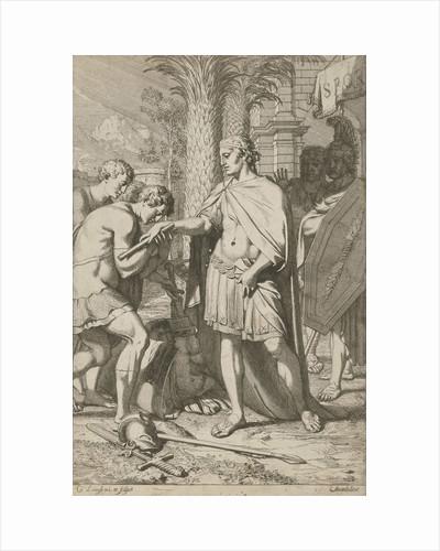 Warrior donates defeated warriors grace by Gerard de Lairesse