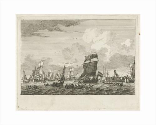 ships heading in Vlaardingen by Gerrit Groenewegen