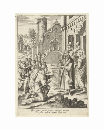 Joseph's brothers come to Egypt by Lucas van Leyden