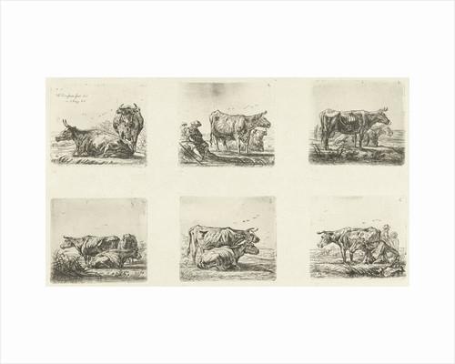 Cows and shepherds by Ernst Willem Jan Bagelaar