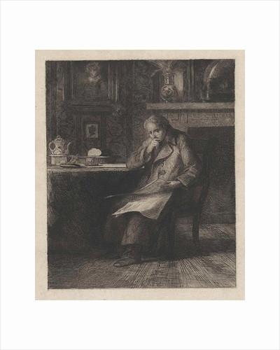 Man reading newspaper by Willem Steelink II