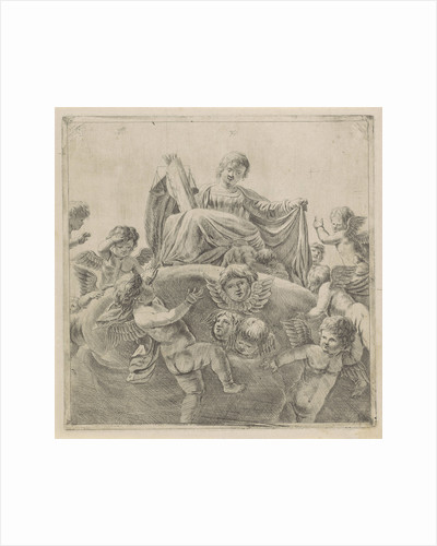 Justice surrounded by putti and cherubs by Anonymous