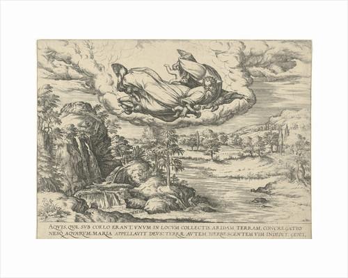 God creates water and land by Symon Novelanus