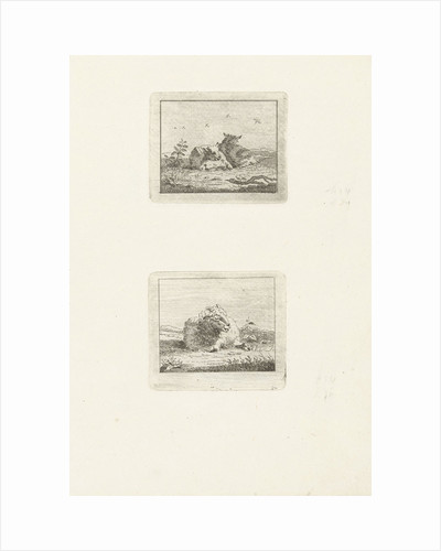Two scenes with sheep by Jan Matthias Cok