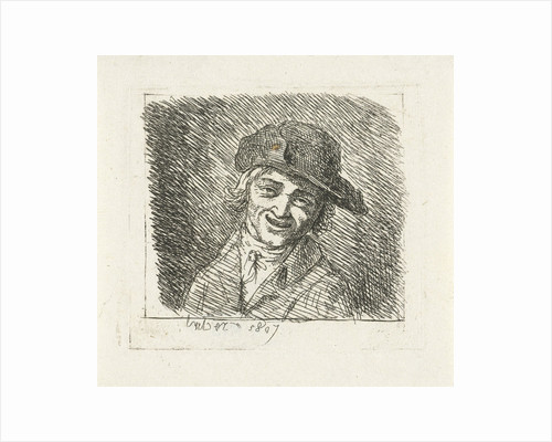 Smiling man with hat by Frédéric Théodore Faber