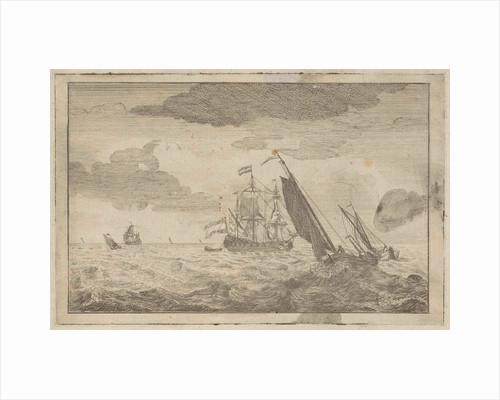 Choppy sea with a three-master by Adam Silo