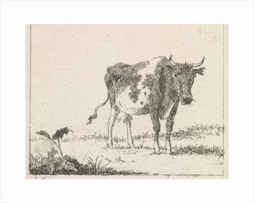 Cow standing in pasture by Johannes Christiaan Janson