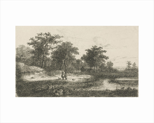 Two hunters near a fen by Hermanus Jan Hendrik van Rijkelijkhuysen