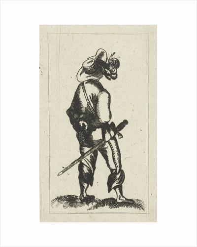 Man with sword on the Rear View by Cornelis Adrianus van Hoogstraten