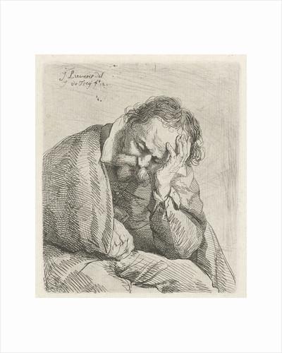 Portrait of sleeping old man by Jan Lievens