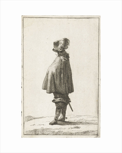 A man with hat seen from the back by Joannes Bemme